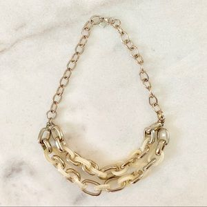 """🔴 Champagne Gold & Clear Necklace 20"""" Double Hang"""